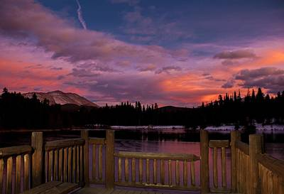 Sawmill Lake Sunset Print by Michael J Bauer