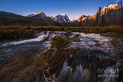 Sawtooth Mountain Art Photograph - Sawtooth Morning In Stanley Idaho by Vishwanath Bhat