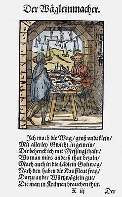 Display Window Painting - Scale Maker, 1568 by Granger
