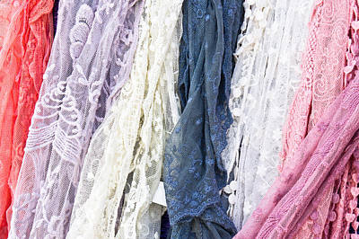 Lace Photograph - Scarves by Tom Gowanlock