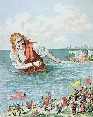 Lilliput Painting - Scene From Gullivers Travels by Frederic Lix