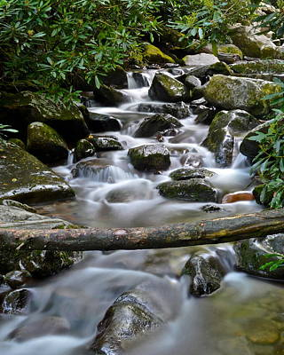 Scenic Cascade Art Print by Frozen in Time Fine Art Photography