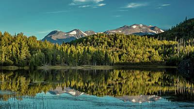 Scenic View Of The Kenai Mountains Art Print