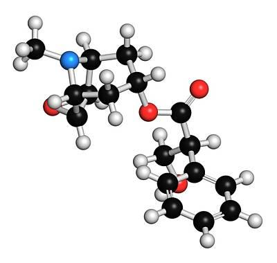 Vomit Photograph - Scopolamine Anticholinergic Drug Molecule by Molekuul