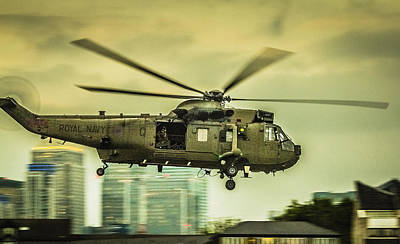 Police Art Photograph - Sea King Helicopter by Dawn OConnor