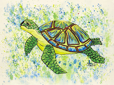 Painting - Sea Turtle by Darice Machel McGuire