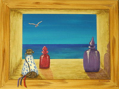 Sea View One Art Print by Pamela Allegretto