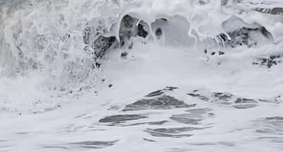 Seafoam Abstract Photograph - Seafoam Wave by Jani Freimann