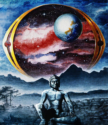 The Universe Painting - Searching  by Hartmut Jager