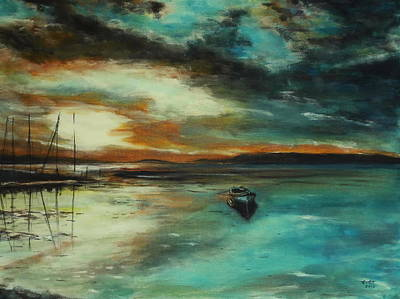 Abstract Seascape Drawing - Seascape. Impressionism. by Stanimir  Stoykov