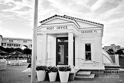 Seaside Post Office - Bw Art Print