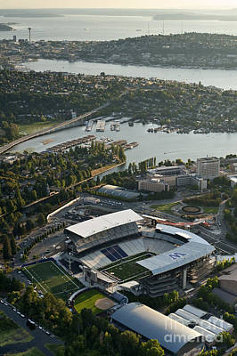 Seattle Skyline With Aerial View Of The Newly Renovated Husky St Art Print