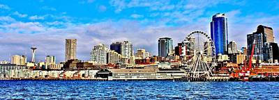 Photograph - Seattle Waterfront by Benjamin Yeager