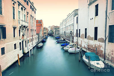 Secluded Canal In Venice Art Print by Ernst Cerjak