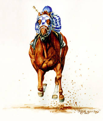 Secretariat Painting - Secretariat At Belmont by Thomas Allen Pauly