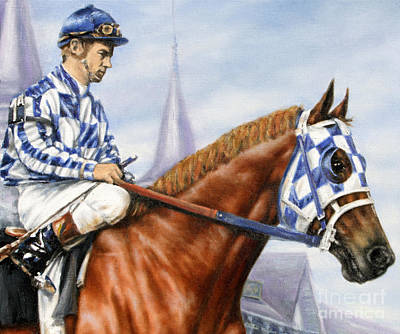Kentucky Derby Painting - Secretariat At Churchill by Thomas Allen Pauly