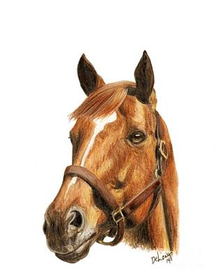 Secretariat Painting - Secretariat by Pat DeLong