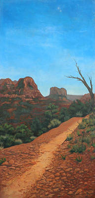 Sedona Trail Art Print by Edward Williams