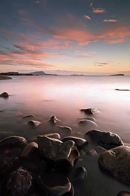 Photograph - Seil Island Sunset by Grant Glendinning