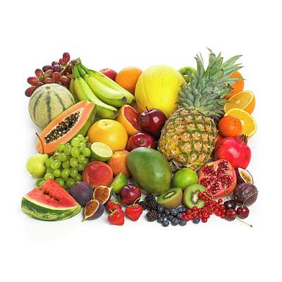 Selection Of Fresh Fruit And Vegetables Art Print