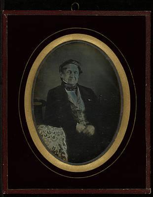 Self-portrait Drawing - Self-portrait Jean-gabriel Eynard, Swiss by Litz Collection