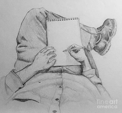 Self Portrait Art Print by Jeff  Blevins