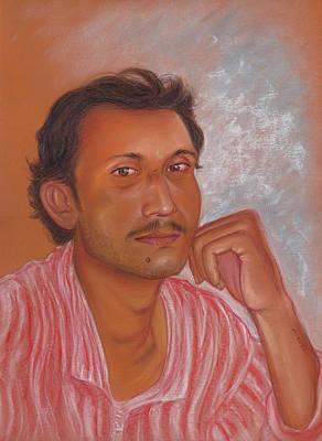 Pastel - Self Portrait by Prakash Leuva