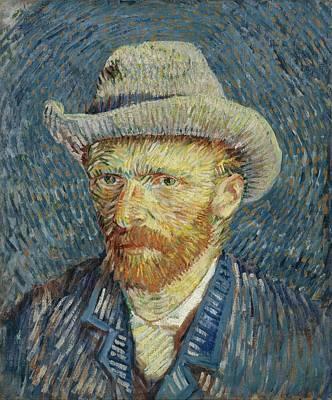 Felt Painting - Self-portrait With Grey Felt Hat by Vincent van Gogh