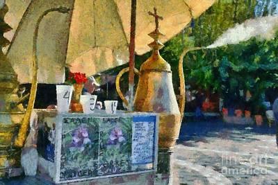 Counter Painting - Selling Julep In Flea Market by George Atsametakis