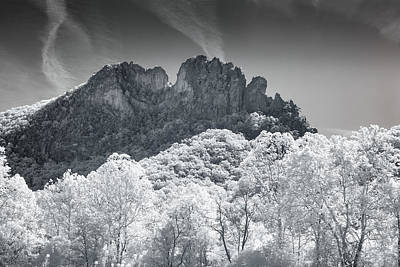 Photograph - Seneca Rocks In Infrared by Mary Almond