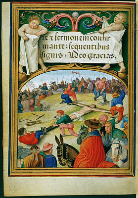 Jesus Photograph - Sforza Hours by British Library