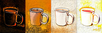 Espresso Painting - Shades Of Coffee by Bruce Nutting