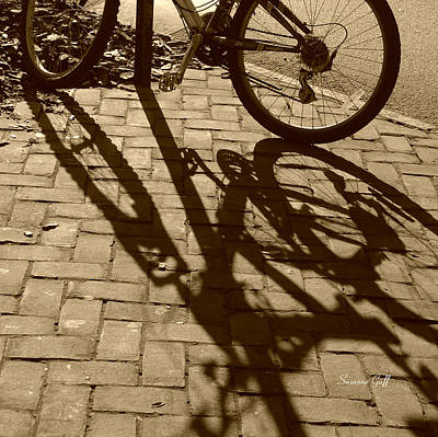 Photograph - Shadow Play In Sepia by Suzanne Gaff