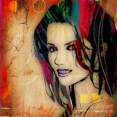 Celebrity Mixed Media - Shania Twain Collection by Marvin Blaine