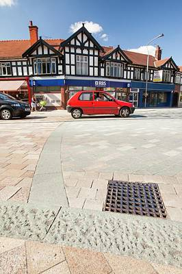 Drain Photograph - Shared Space In Poynton by Ashley Cooper
