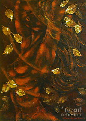 Painting - She...autumn by Elena  Constantinescu