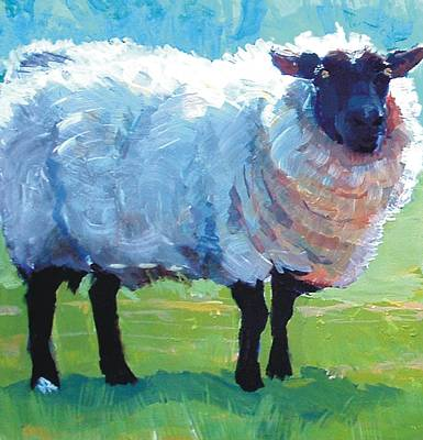 Painting - Sheep Painting by Mike Jory