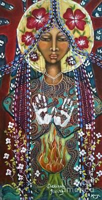 Holy Mother Mixed Media - Shekinah Rising by Maya Telford