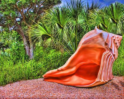 Digital Art - Shell Attack by Deborah Boyd