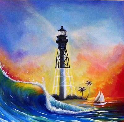 Painting - Shine Your Light by Carrie Bennett