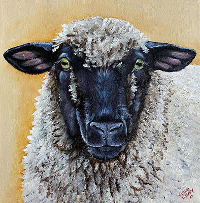 Lamb Painting - Shirley by Laura Carey
