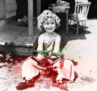Shirley Mixed Media - Shirley Temple by Marvin Blaine