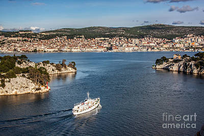 Studio Grafika Zodiac Rights Managed Images - Sibenik town and st. Ante channel  Royalty-Free Image by Tomislav Zivkovic