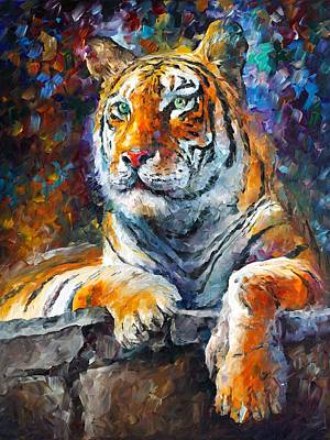 Abstract Realism Painting - Siberian Tiger by Leonid Afremov