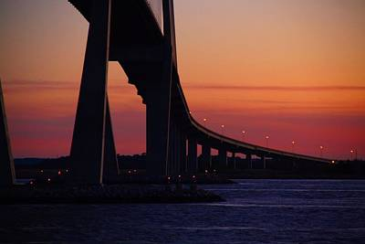 Photograph - Sidney Lanier Bridge At Sunset by Kathryn Meyer