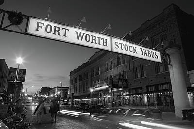 Worth Photograph - Signboard Over A Road At Dusk, Fort by Panoramic Images