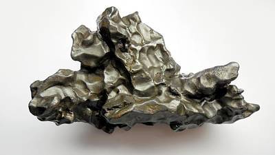 Meteorite Photograph - Sikhote-alin Meteorite Fragment by Detlev Van Ravenswaay