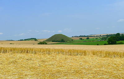 Photograph - Silbury Hill From Crop Circle by Denise Mazzocco