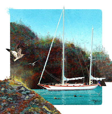 Painting - Silent Anchorage by David  Chapple