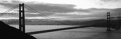 Bay Bridge Photograph - Silhouette Of A Suspension Bridge by Panoramic Images
